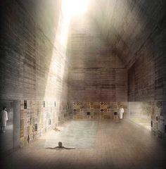 Bath House of Liepaja, Javier Mosquera González Architecture Visualization, Architecture Drawings, Architecture Details, Landscape Architecture, Interior Architecture, Cgi, Planer Layout, 3d Studio, Interior Rendering