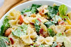 BLT Pasta Salad Recipe!  In the mood for pasta, bacon, and all things tasty? If so, you must try this BLT Pasta Salad dish for dinner! My kids even liked