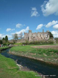 Laugharne Castle, Pembrokeshire, Wales