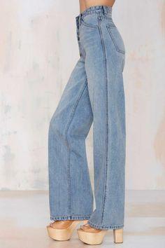 Nasty Gal Denim - The Wide Strider - Denim Cropped Denim Jacket, Denim Overalls, Denim Jackets, Shorts, Wide Leg Denim, Ripped Denim, Womens Fashion Online, Latest Fashion For Women, Jean Outfits