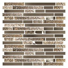 Daytona Beach Mix (Stainless steel & Glass) 12 x 12 in. $32.99 a SF. #thetileshop #stainless #glasstile