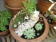 549 best jardins miniatures images on Pinterest | Fairies garden ...