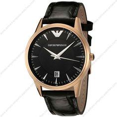 Emporio Armani Classic Black Gold Watch #Watch #Black