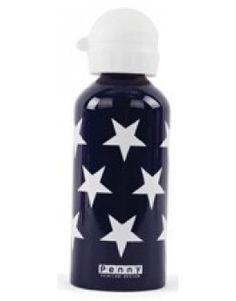 Penny Scallan Navy Star Drink Bottle 500ml $24.95 www.mamadoo.com.au #mamadoo #backtoschool #drinkbottle