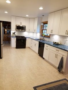 Arctic Ice Subway Tile Backsplash With Cambria Praa Sands