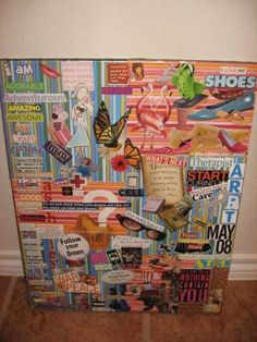 I adore collages... All through high school my binders were covered with magazine collages and then wrapped with contact paper. Good times...