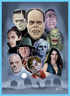 Creepy Clown, Scary, Horror Art, Horror Movies, Vampires And Werewolves, Famous Monsters, Classic Monsters, Cryptozoology, Monster Art