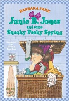 Park, Barbara. Junie B. Jones and some Sneaky Peeky Spying. New York: Scholastic Inc., 1994. Print. While spying, Junie B. Jones sees her teacher steal some grapes at a grocery store but has to keep it a secret in this fictional chapter book. A writing trait that can be taught is voice because the story is written as if a kindergartener is telling it. A writing technique that can be taught is using print to match meaning. When she yells it is in all caps.