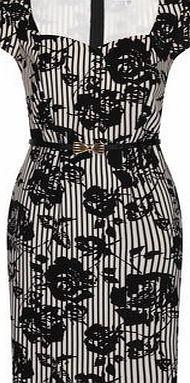 Dorothy Perkins Womens Paper Dolls Black and White Floral Dress- A black and white striped dress with cap sleeves and large floral print, wearing length 100cm 100% Polyester. Hand wash only /do not tumble dry/ iron on reverse side/ do not dry clean. http://www.comparestoreprices.co.uk/womens-clothes/dorothy-perkins-womens-paper-dolls-black-and-white-floral-dress-.asp