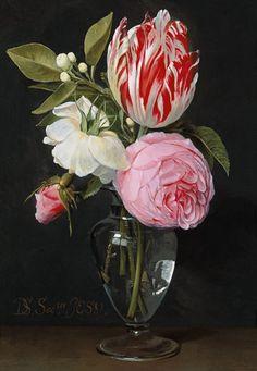 Titolo dell'immagine : Daniel Seghers - Flowers in a glass vase