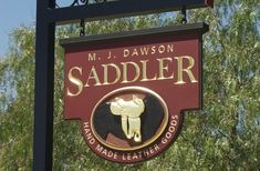 Dawson Saddler Business Sign | Danthonia Designs