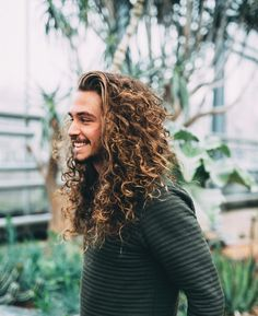 The Gay Façade < long hair + male + curly + blond Hair And Beard Styles, Curly Hair Styles, Natural Hair Styles, Long Curly Hair, Great Hair, Haircuts For Men, Messy Hairstyles, Hair Goals, Hair Inspiration