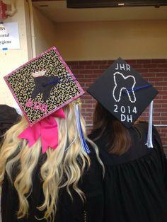 Dental hygiene graduation caps.