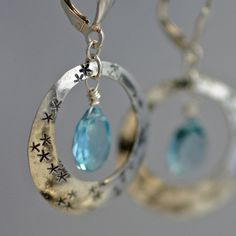 blue topaz, circles, stars, and silver- what could be better?