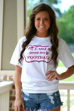 $18.00 per t-shirt! Call for available colors. #sports #football #sweettea #southern #tshirt #tee #shirt #gift