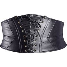 eBoot Elastic Wide Waist Belt Tied Corset Cinch Belt with Press... (146.255 IDR) ❤ liked on Polyvore featuring accessories, belts, tie belt, wide belts, elastic belt, wide elastic belt and cinch belt