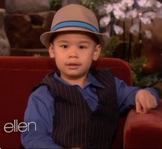 Not every 4-year-old in a fedora is this charming, but Kai Langer made a lasting impression on Ellen. He even sang for her! Check it out.