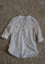 nowa biała koszula z długim rękawem