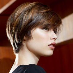 New Haircuts, Short Bob Hairstyles, Trendy Hairstyles, Fall Hair Color For Brunettes, Chic Haircut, Haircut Images, Love Hair, Silver Hair, Pixie Cut