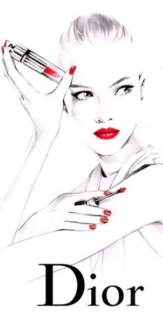 Dior fashion illustration.