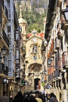 Iglesia de Santa Maria del Coro. Old town, San Sebastian- Spain