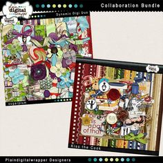 The Plaindigitalwrapper Design Team has gone crazy! They've priced this collaboration bundle so low they're practically giving it away! Both of the collaboration kits are HUGE!  Together you get over 75 Digital Papers, 130 Elements, 2 Alphas, Clusters, a Photoshop Brush, Recipe Card T...