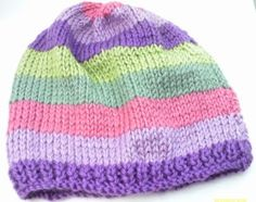 How to make Charity Pattern - Basic Adults Knitted Beanie - DIY Craft Project with instructions from Craftbits.com