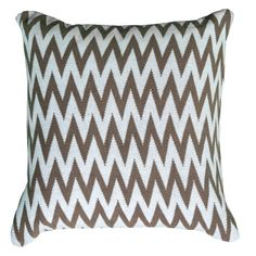 Rizzy Home Decorative Chevron Throw Pillow Brown - PILT06024GYWH2020