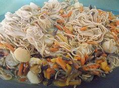 Nouilles chinoises au crevettes et aux St Jacques au cookéo