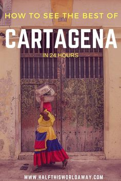 A guide to Cartagena - Colombia's most colourful city. This is a guide on how to see the best of Cartagena in one day! It is possible to see all the highlights within 24 hours! Visit Colombia, Colombia Travel, Columbia South America, Central America, Backpacking South America, South America Travel, Travel Guides, Travel Tips, Budget Travel