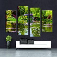 AuBergewohnlich Günstige 4 Stücke Claude Monets Garten Wandmalerei Druck Auf Leinwand Für  Wohnkultur Ideen Farben Auf Wand Bilder F/1343, Kaufe Qualität Malerei ...