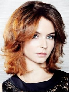 thick wavy shoulder length hair - Google Search