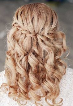 Image result for half updo with braid