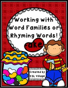-ake word family / rhyming words from ESL Village on TeachersNotebook.com -  (15 pages)  - Working with spelling patterns will help your students to spell and read new words.
