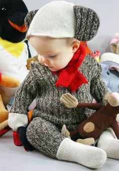 Baby sock monkey Halloween costume ♥
