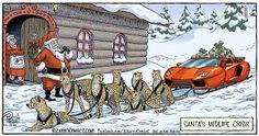 Mystery Fanfare: Cartoon of the Day: Santa's Midlife Crisis Christmas Comics, Christmas Jokes, Christmas Cartoons, Merry Christmas To You, Christmas Past, Christmas Themes, Bizarro Comic, Jokes Pics, Fun Comics
