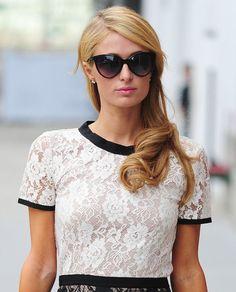 Paris Hilton's perfect blowout