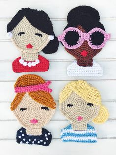 Excited to share this item from my shop: Crochet Patterns, Crochet Doll Face, Crochet For Woman, Crochet Appliqué, Crochet Portrait Appliques Au Crochet, Crochet Dolls Free Patterns, Crochet Doll Pattern, Applique Patterns, Art Au Crochet, Cute Crochet, Crochet Crafts, Crochet Projects, Boy Crochet