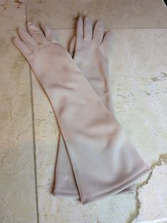 Debutante Nylon Gloves cream colored by BonTonChicWeddings on Etsy