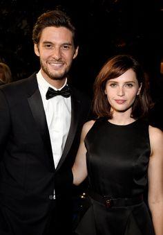 Pin for Later: Emma Watson Était Resplendissante Lors des BAFTA Awards Ben Barnes and Felicity Jones