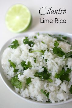 Made: Cilantro Lime Rice. Very good, increased lime because I prefer more lime flavor in rice.