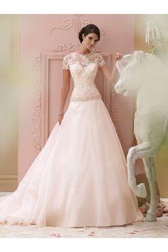 Vestidos de novia 2015 de seda con corset de encaje - Vestidos de Novia Gusewell