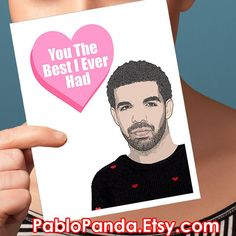 OVO Rapper Drake Valentines Cards   valentine's cards. naughty valentines. dirty valentines cards. valentine day cards. gift for him. love