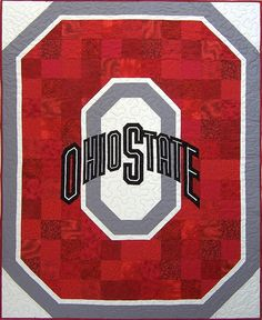 The custom Ohio State University quilt Sonny A. always wanted... see more @ whimziequiltz.com