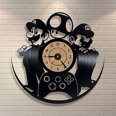 Mario Luigi Art Vinyl Record Clock Wall Decor Home Design Room ...