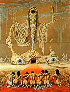 Dutch master: The grotesque & twisted surrealism of Johfra Bosschart Arte Horror, Horror Art, Dark Fantasy Art, Dark Art, Arte Sci Fi, Sci Fi Art, Creepy Art, Weird Art, Art And Illustration