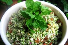 Tabbouleh Every restaurant I visited in Dubai included hummus (chickpea paste), baba ghanoush (a Middle Eastern puree of eggplant), tzatziki (Greek dip of cucumber and yoghurt), tabbouleh (Lebanese salad of bulgur wheat and vegetables) and Lebanese Salad, Greek Dip, Tabbouleh Recipe, Recipe Photo, Tzatziki, Food Photo, Hummus, Cucumber, Vegetables