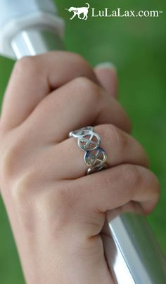 Cute Lacrosse Sticks Ring from LuLaLax