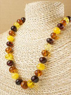 Baltic Amber Lapis Lazuli bead Sterling Silver handmade necklace gemstone Designer artisan