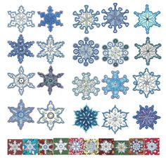 Simply Snowflakes Applique SKU: DBJJ398 Design Set:  $20.00   $4.00 Instant Download! 4x4 and 5x7 hoop--20 designs total